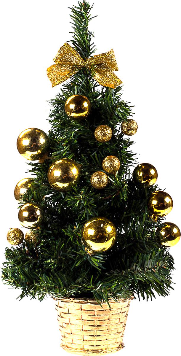 Елка настольная c игрушками Vita Pelle, 40 см. K11EL1948K11EL1948Милая наряженная елочка в корзинке украшена игрушками и мишурой. Она будет уместна и дома, и в офисе. Она преобразит пространство, подарив праздник и новогоднее настроение. Небольшой размер елочки позволит разместить ее где угодно.