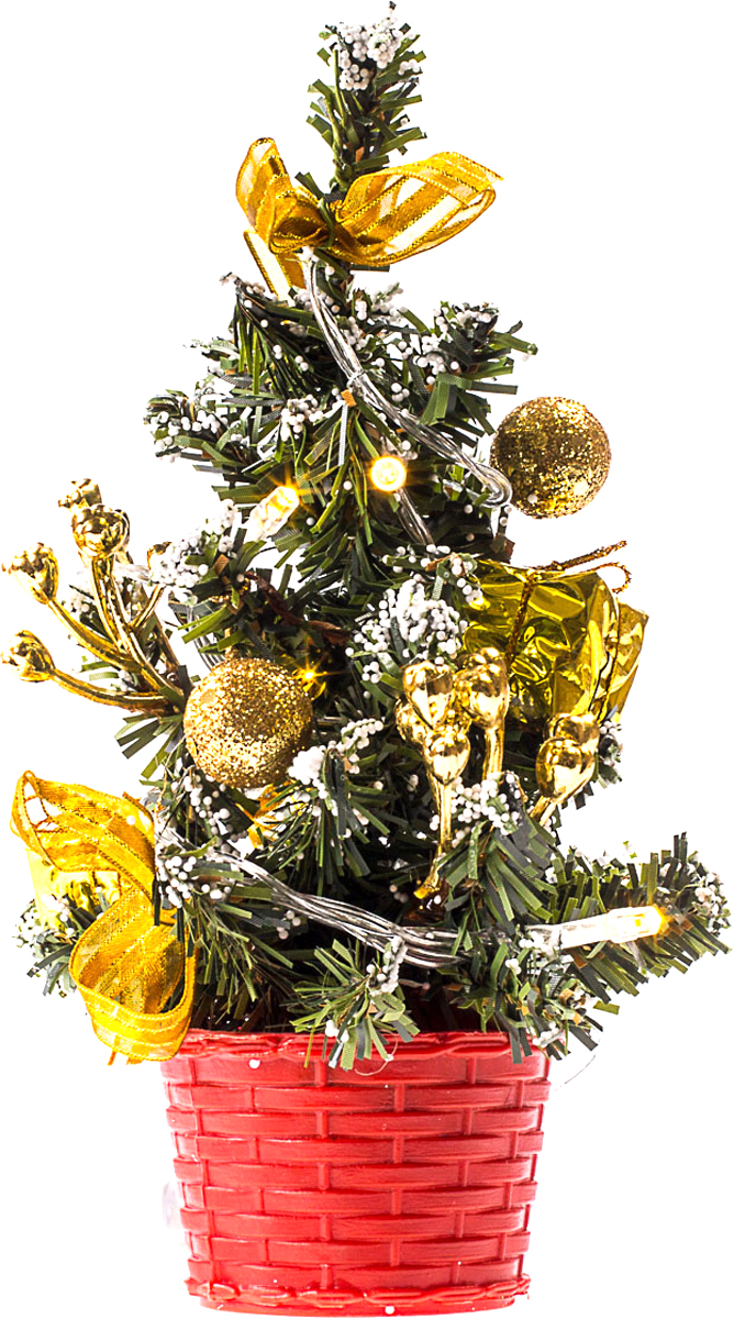 Елка настольная c игрушками и гирляндой Vita Pelle, 20 см. K11EL3006K11EL3006Милая наряженная елочка в корзинке украшена игрушками, мишурой и гирляндой. Она будет уместна и дома, и в офисе. Весело подмигивая всеми своими огоньками, она преобразит пространство, подарив праздник и новогоднее настроение.