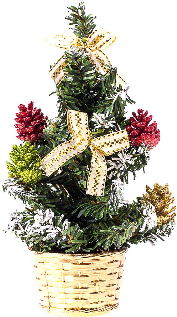 Елка настольная c игрушками Vita Pelle, 20 см. K11EL4013K11EL4013Милая наряженная елочка в корзинке украшена игрушками и мишурой. Она будет уместна и дома, и в офисе. Она преобразит пространство, подарив праздник и новогоднее настроение. Небольшой размер елочки позволит разместить ее где угодно.