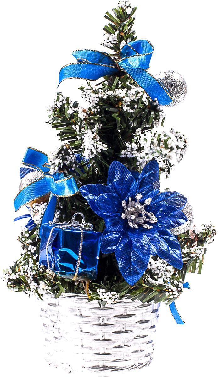 Елка настольная c игрушками Vita Pelle, 20 см. K11EL4014K11EL4014Милая наряженная елочка в корзинке украшена игрушками и мишурой. Она будет уместна и дома, и в офисе. Она преобразит пространство, подарив праздник и новогоднее настроение. Небольшой размер елочки позволит разместить ее где угодно.