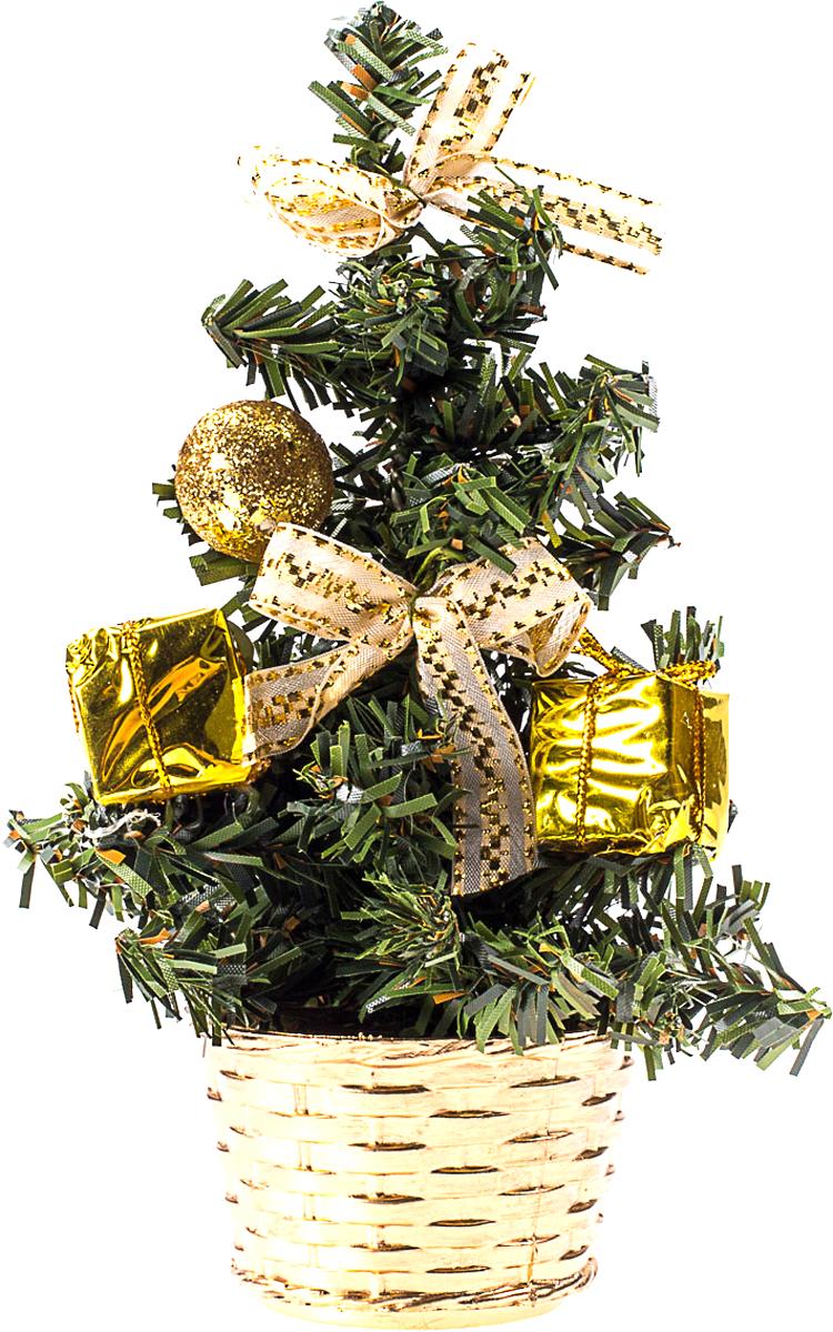 Елка настольная c игрушками Vita Pelle, 20 см. K11EL4020K11EL4020Милая наряженная елочка в корзинке украшена игрушками и мишурой. Она будет уместна и дома, и в офисе. Она преобразит пространство, подарив праздник и новогоднее настроение. Небольшой размер елочки позволит разместить ее где угодно.