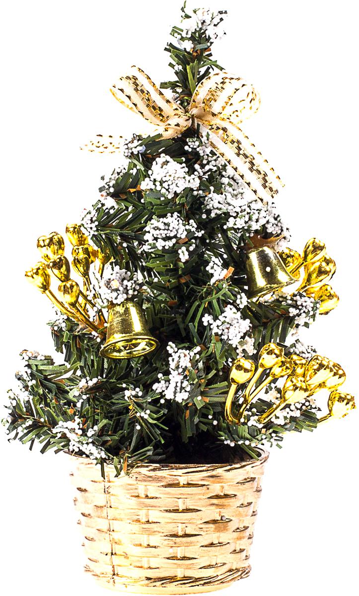 Елка настольная c игрушками Vita Pelle, 20 см. K11EL4021K11EL4021Милая наряженная елочка в корзинке украшена игрушками и мишурой. Она будет уместна и дома, и в офисе. Она преобразит пространство, подарив праздник и новогоднее настроение. Небольшой размер елочки позволит разместить ее где угодно.