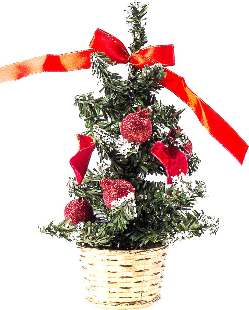 Елка настольная c игрушками Vita Pelle, 20 см. K11EL4030K11EL4030Милая наряженная елочка в корзинке украшена игрушками и мишурой. Она будет уместна и дома, и в офисе. Она преобразит пространство, подарив праздник и новогоднее настроение. Небольшой размер елочки позволит разместить ее где угодно.