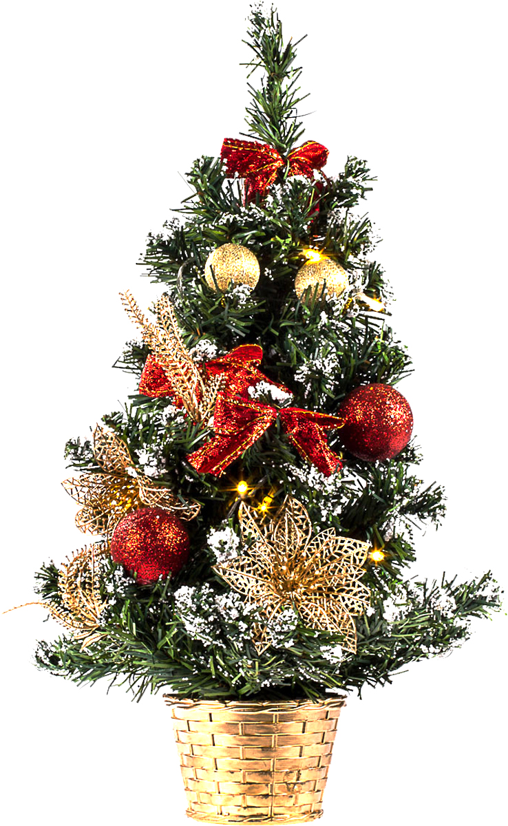 Елка настольная c игрушками и гирляндой Vita Pelle, 50 см. K11EL5007K11EL5007Милая наряженная елочка в корзинке украшена игрушками, мишурой и гирляндой. Она будет уместна и дома, и в офисе. Весело подмигивая всеми своими огоньками, она преобразит пространство, подарив праздник и новогоднее настроение.