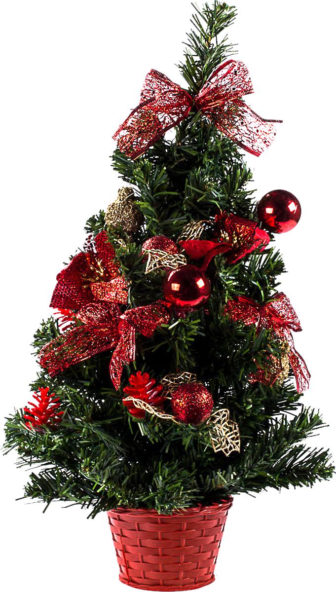 Елка настольная c игрушками Vita Pelle, 50 см. K11EL5055K11EL5055Милая наряженная елочка в корзинке украшена игрушками и мишурой. Она будет уместна и дома, и в офисе. Она преобразит пространство, подарив праздник и новогоднее настроение. Небольшой размер елочки позволит разместить ее где угодно.
