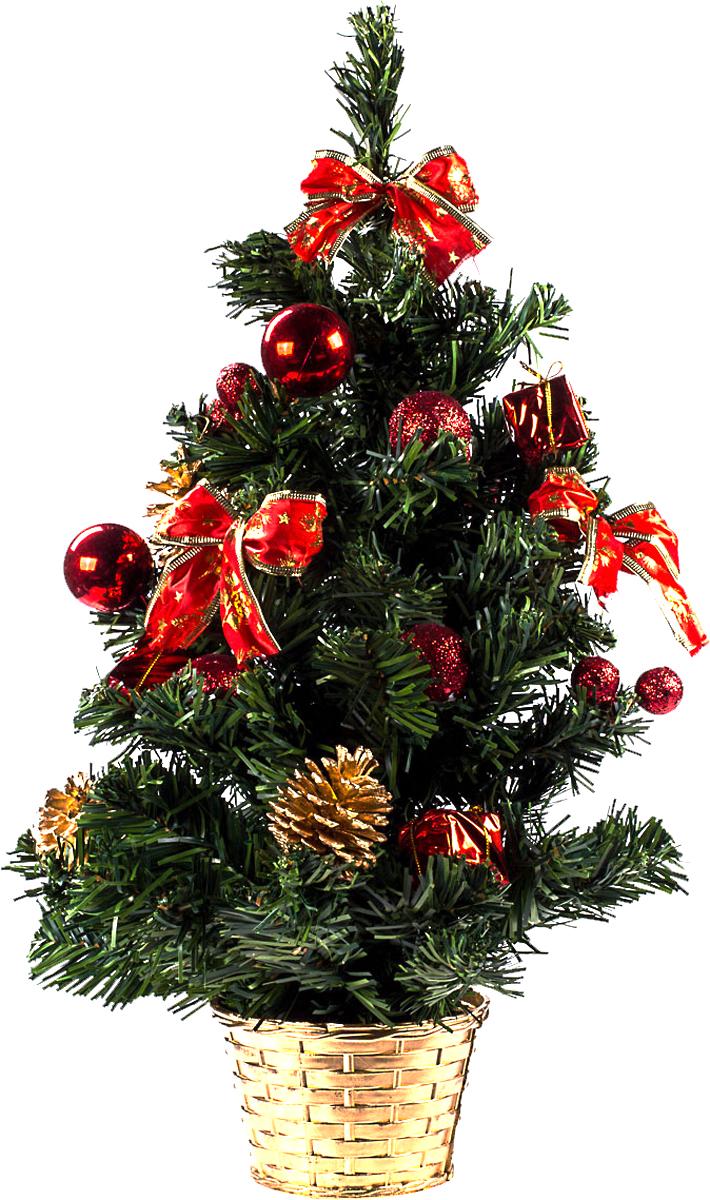 Елка настольная c игрушками Vita Pelle, 50 см. K11EL5056K11EL5056Милая наряженная елочка в корзинке украшена игрушками и мишурой. Она будет уместна и дома, и в офисе. Она преобразит пространство, подарив праздник и новогоднее настроение. Небольшой размер елочки позволит разместить ее где угодно.
