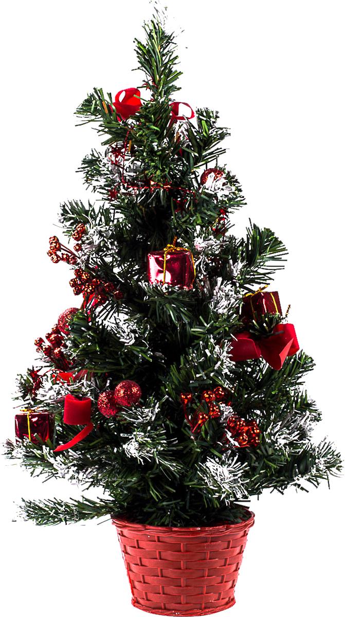 Елка настольная c игрушками Vita Pelle, 50 см. K11EL5058K11EL5058Милая наряженная елочка в корзинке украшена игрушками и мишурой. Она будет уместна и дома, и в офисе. Она преобразит пространство, подарив праздник и новогоднее настроение. Небольшой размер елочки позволит разместить ее где угодно.