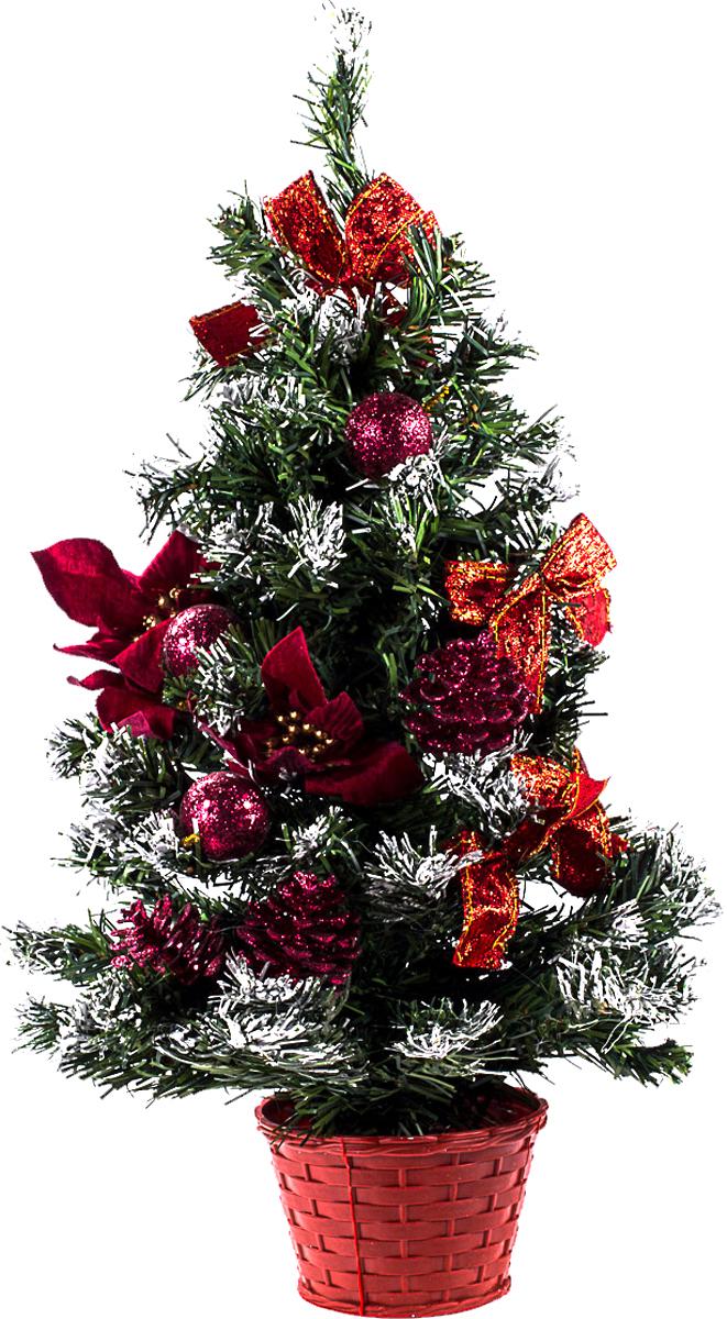 Елка настольная c игрушками Vita Pelle, 50 см. K11EL5062K11EL5062Милая наряженная елочка в корзинке украшена игрушками и мишурой. Она будет уместна и дома, и в офисе. Она преобразит пространство, подарив праздник и новогоднее настроение. Небольшой размер елочки позволит разместить ее где угодно.