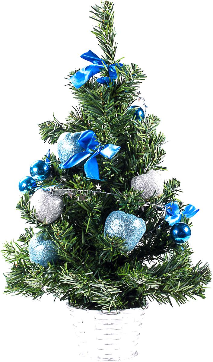 Елка настольная c игрушками Vita Pelle, 50 см. K11EL5069K11EL5069Милая наряженная елочка в корзинке украшена игрушками и мишурой. Она будет уместна и дома, и в офисе. Она преобразит пространство, подарив праздник и новогоднее настроение. Небольшой размер елочки позволит разместить ее где угодно.