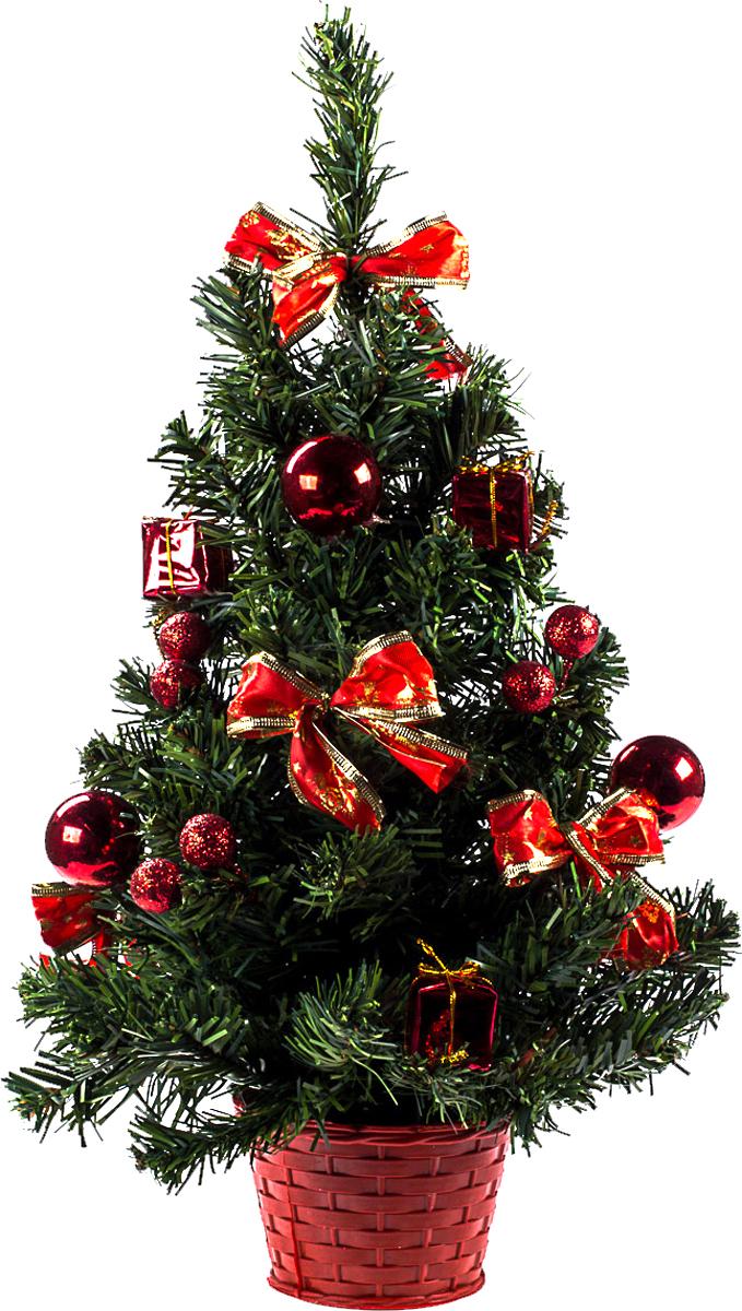 Елка настольная c игрушками Vita Pelle, 50 см. K11EL5070K11EL5070Милая наряженная елочка в корзинке украшена игрушками и мишурой. Она будет уместна и дома, и в офисе. Она преобразит пространство, подарив праздник и новогоднее настроение. Небольшой размер елочки позволит разместить ее где угодно.