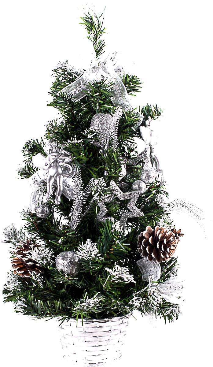 Елка настольная c игрушками Vita Pelle, 50 см. K11EL5074K11EL5074Милая наряженная елочка в корзинке украшена игрушками и мишурой. Она будет уместна и дома, и в офисе. Она преобразит пространство, подарив праздник и новогоднее настроение. Небольшой размер елочки позволит разместить ее где угодно.