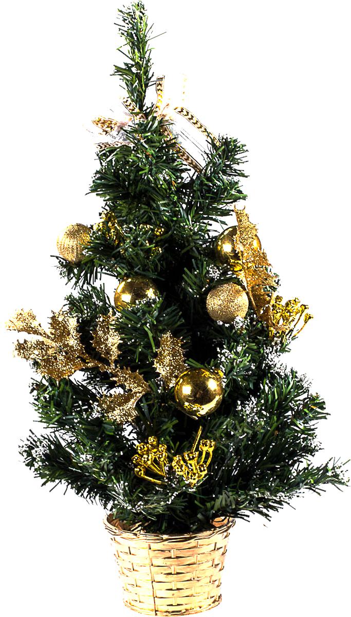 Елка настольная c игрушками Vita Pelle, 50 см. K11EL5075K11EL5075Милая наряженная елочка в корзинке украшена игрушками и мишурой. Она будет уместна и дома, и в офисе. Она преобразит пространство, подарив праздник и новогоднее настроение. Небольшой размер елочки позволит разместить ее где угодно.