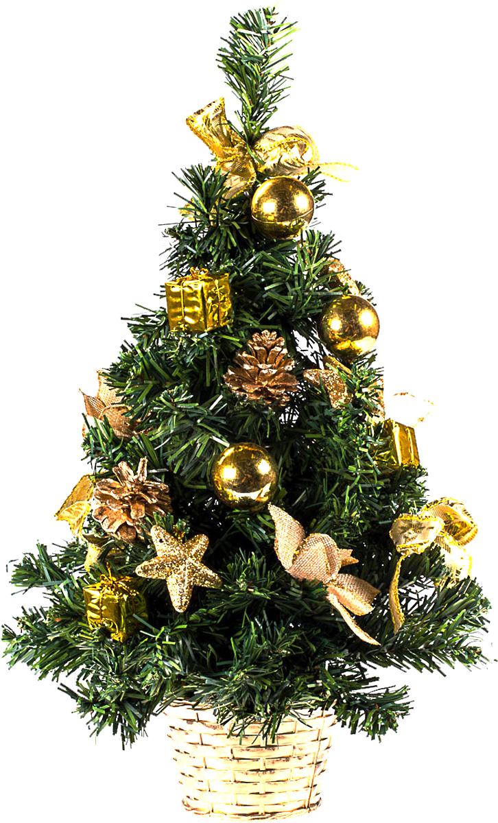 Елка настольная c игрушками Vita Pelle, 50 см. K11EL5079K11EL5079Милая наряженная елочка в корзинке украшена игрушками и мишурой. Она будет уместна и дома, и в офисе. Она преобразит пространство, подарив праздник и новогоднее настроение. Небольшой размер елочки позволит разместить ее где угодно.