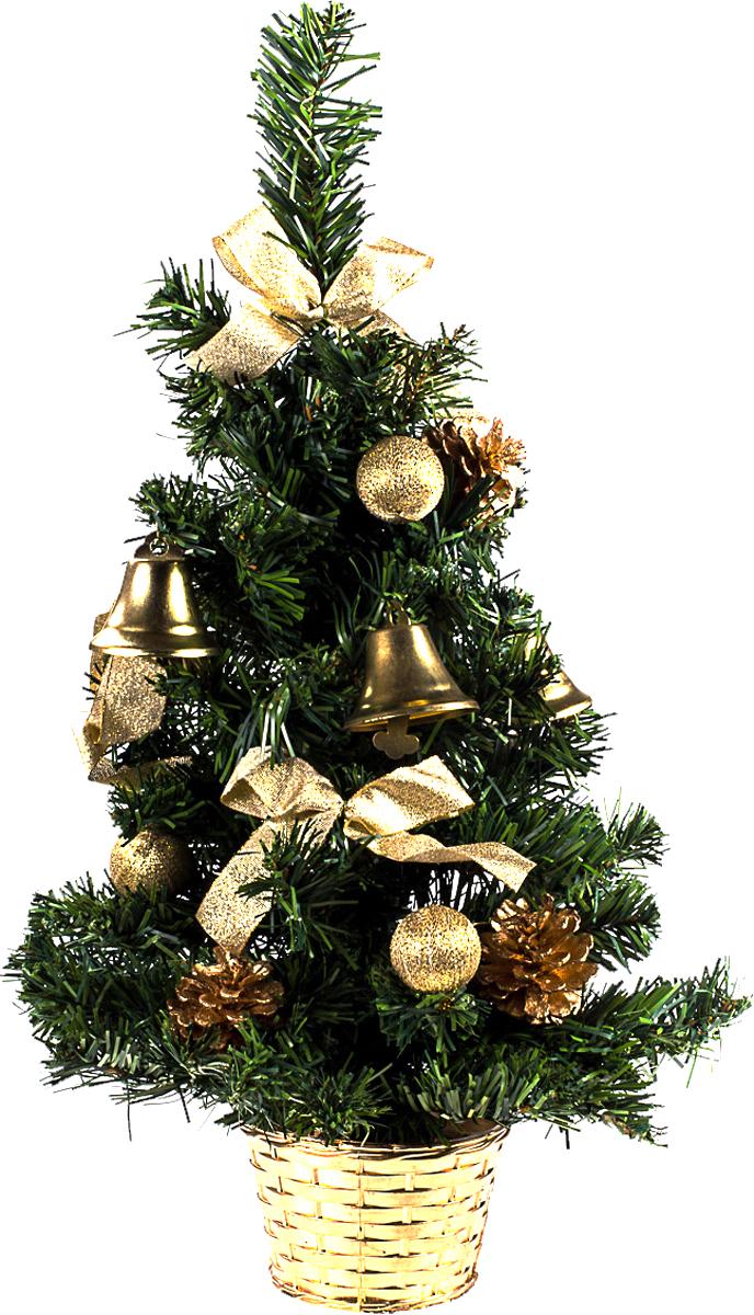 Елка настольная c игрушками Vita Pelle, 50 см. K11EL5081K11EL5081Милая наряженная елочка в корзинке украшена игрушками и мишурой. Она будет уместна и дома, и в офисе. Она преобразит пространство, подарив праздник и новогоднее настроение. Небольшой размер елочки позволит разместить ее где угодно.