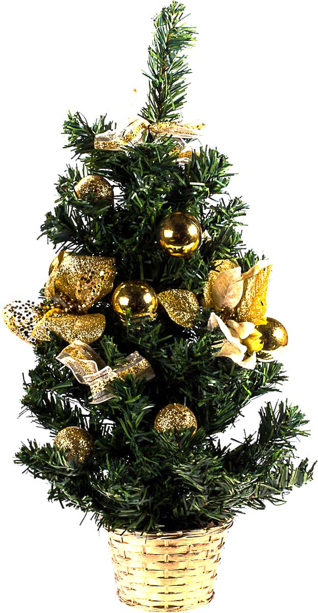 Елка настольная c игрушками Vita Pelle, 50 см. K11EL5082K11EL5082Милая наряженная елочка в корзинке украшена игрушками и мишурой. Она будет уместна и дома, и в офисе. Она преобразит пространство, подарив праздник и новогоднее настроение. Небольшой размер елочки позволит разместить ее где угодно.