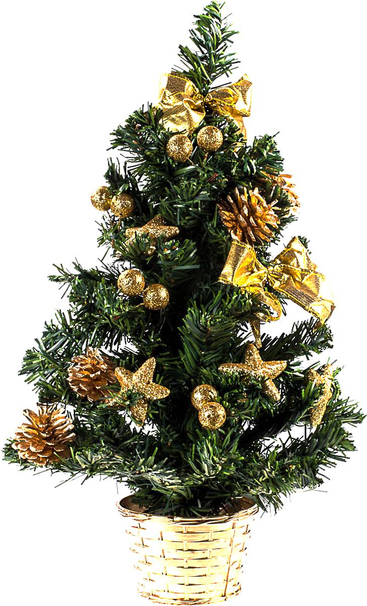 Елка настольная c игрушками Vita Pelle, 50 см. K11EL5084K11EL5084Милая наряженная елочка в корзинке украшена игрушками и мишурой. Она будет уместна и дома, и в офисе. Она преобразит пространство, подарив праздник и новогоднее настроение. Небольшой размер елочки позволит разместить ее где угодно.