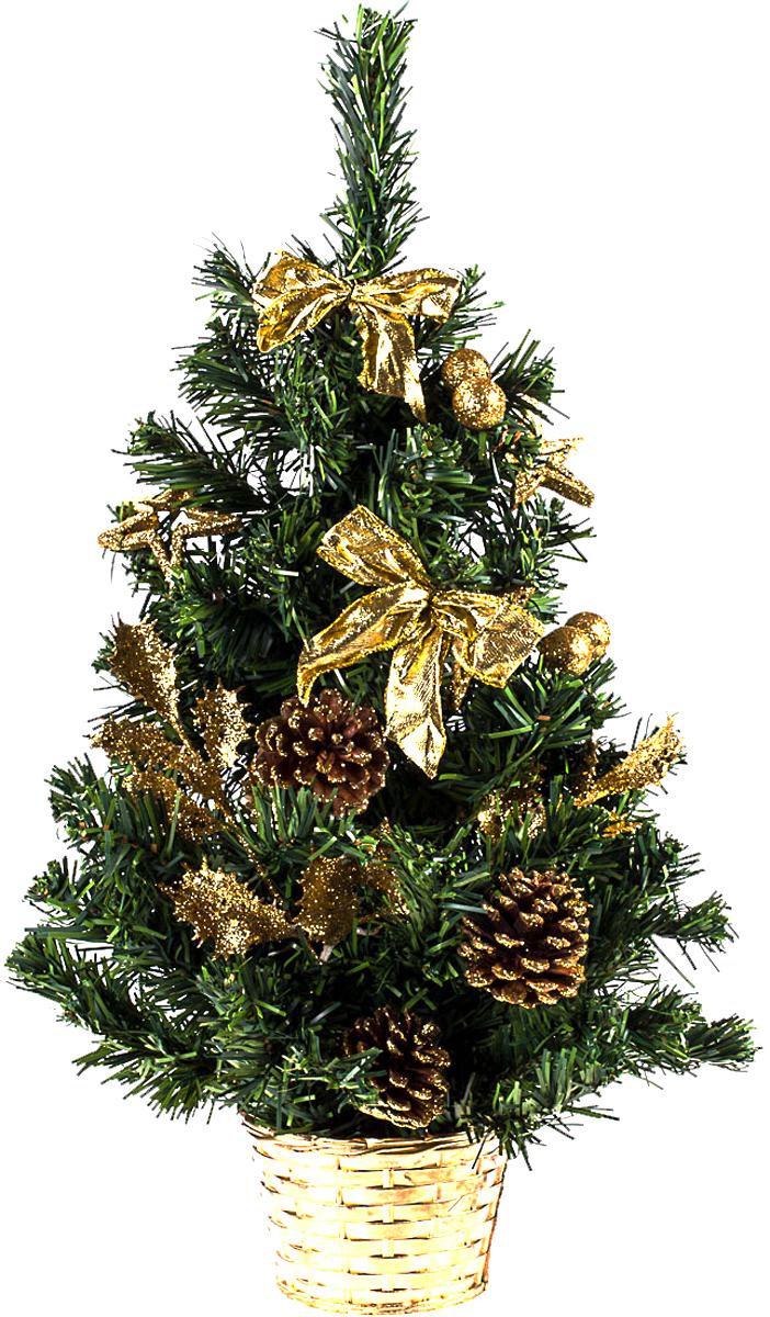 Елка настольная c игрушками Vita Pelle, 50 см. K11EL5088K11EL5088Милая наряженная елочка в корзинке украшена игрушками и мишурой. Она будет уместна и дома, и в офисе. Она преобразит пространство, подарив праздник и новогоднее настроение. Небольшой размер елочки позволит разместить ее где угодно.