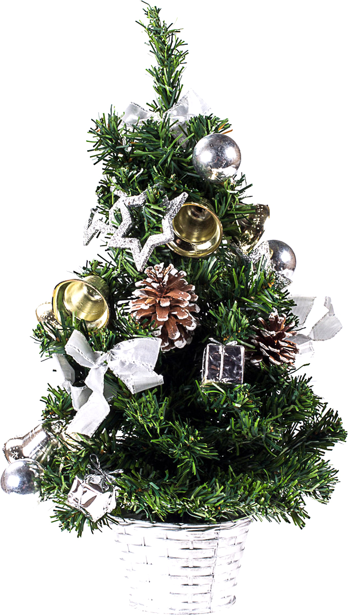 Елка настольная c игрушками Vita Pelle, 50 см. K11EL5090K11EL5090Милая наряженная елочка в корзинке украшена игрушками и мишурой. Она будет уместна и дома, и в офисе. Она преобразит пространство, подарив праздник и новогоднее настроение. Небольшой размер елочки позволит разместить ее где угодно.