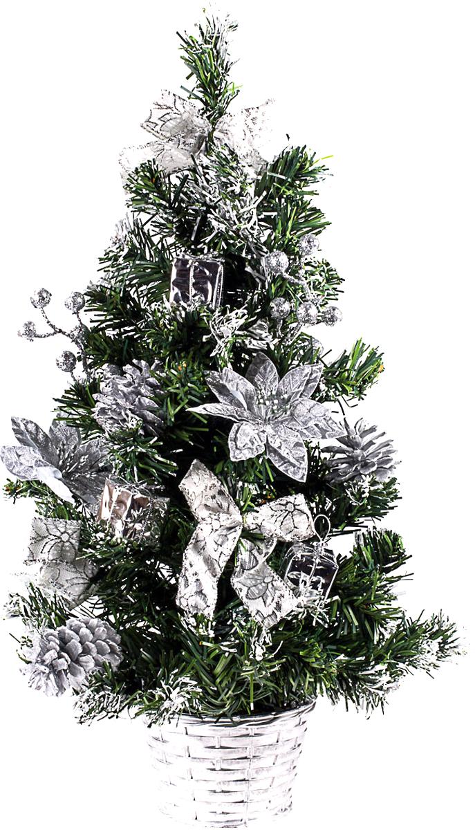 Елка настольная c игрушками Vita Pelle, 50 см. K11EL5094K11EL5094Милая наряженная елочка в корзинке украшена игрушками и мишурой. Она будет уместна и дома, и в офисе. Она преобразит пространство, подарив праздник и новогоднее настроение. Небольшой размер елочки позволит разместить ее где угодно.