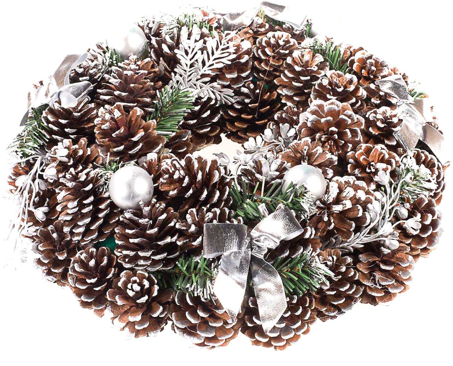 Венок рождественский Vita Pelle. K11shk2301K11shk2301Венок из сосновых шишек
