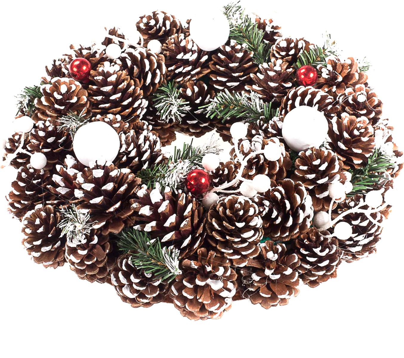 Венок рождественский Vita Pelle. K11shk2302K11shk2302Венок из сосновых шишек
