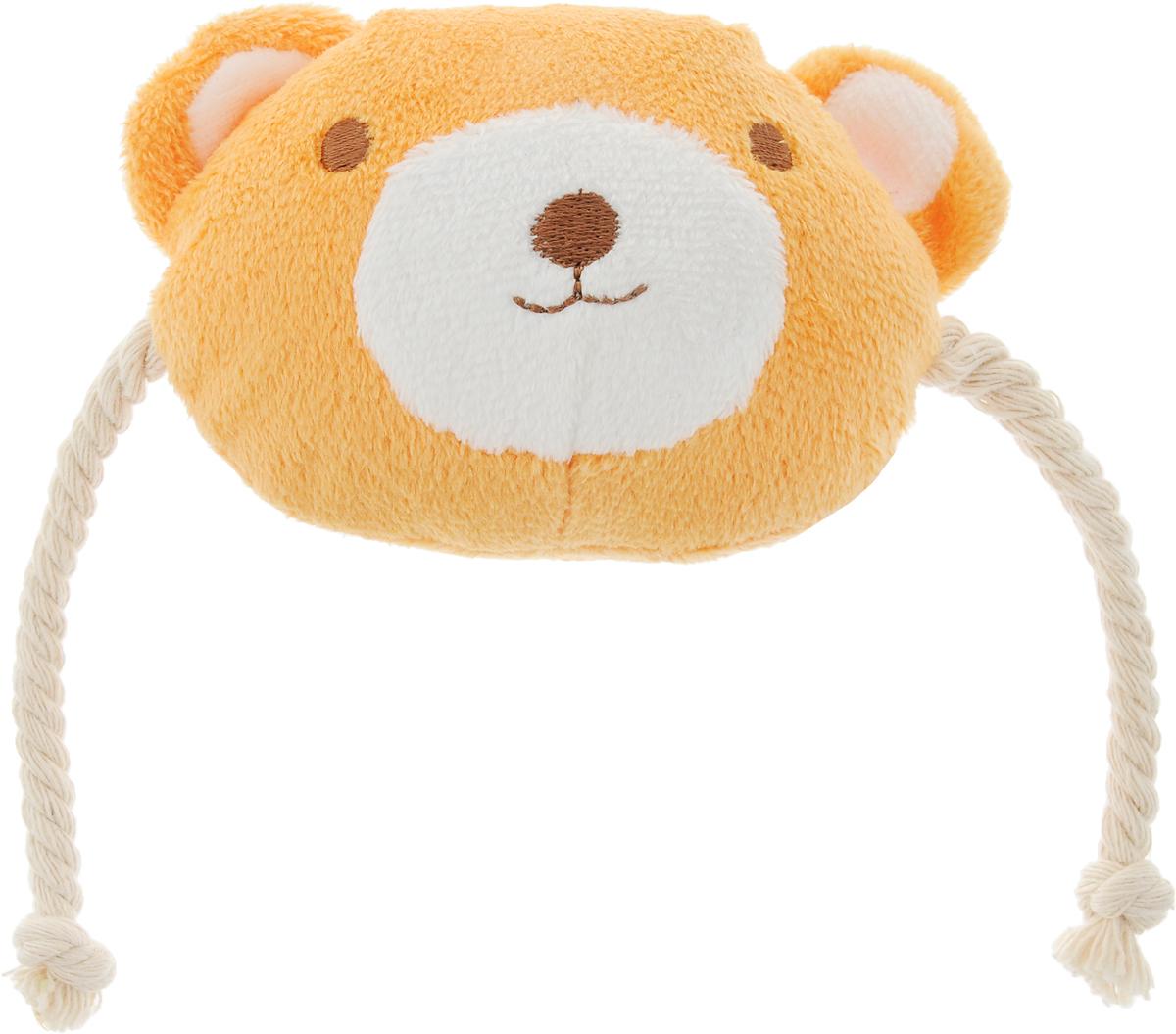 Игрушка для животных GLG Веселая семейка. Мишка, цвет: оранжевый, белыйAT2518_оранжевый, белыйИгрушка для животных GLG Веселая семейка. Мишка изготовлена из мягкого плюша. Мордочка медвежонка сдвумяканатными веревочками по бокам поможет занять щенка или котенка, разнообразит их игры. Игрушка подойдет идля взрослых животных. Легкая забавная игрушка с синтепоновой набивкой внутри снабжена пищалкой, чтовызовет дополнительный интерес вашегопитомца.Такая игрушка порадует вашего любимца, а вам доставит массуприятных эмоций, ведь наблюдать за игрой всегда интересно иприятно.Уход: возможна влажная чистка.Размер игрушки: 10 х 10 х 5 см.
