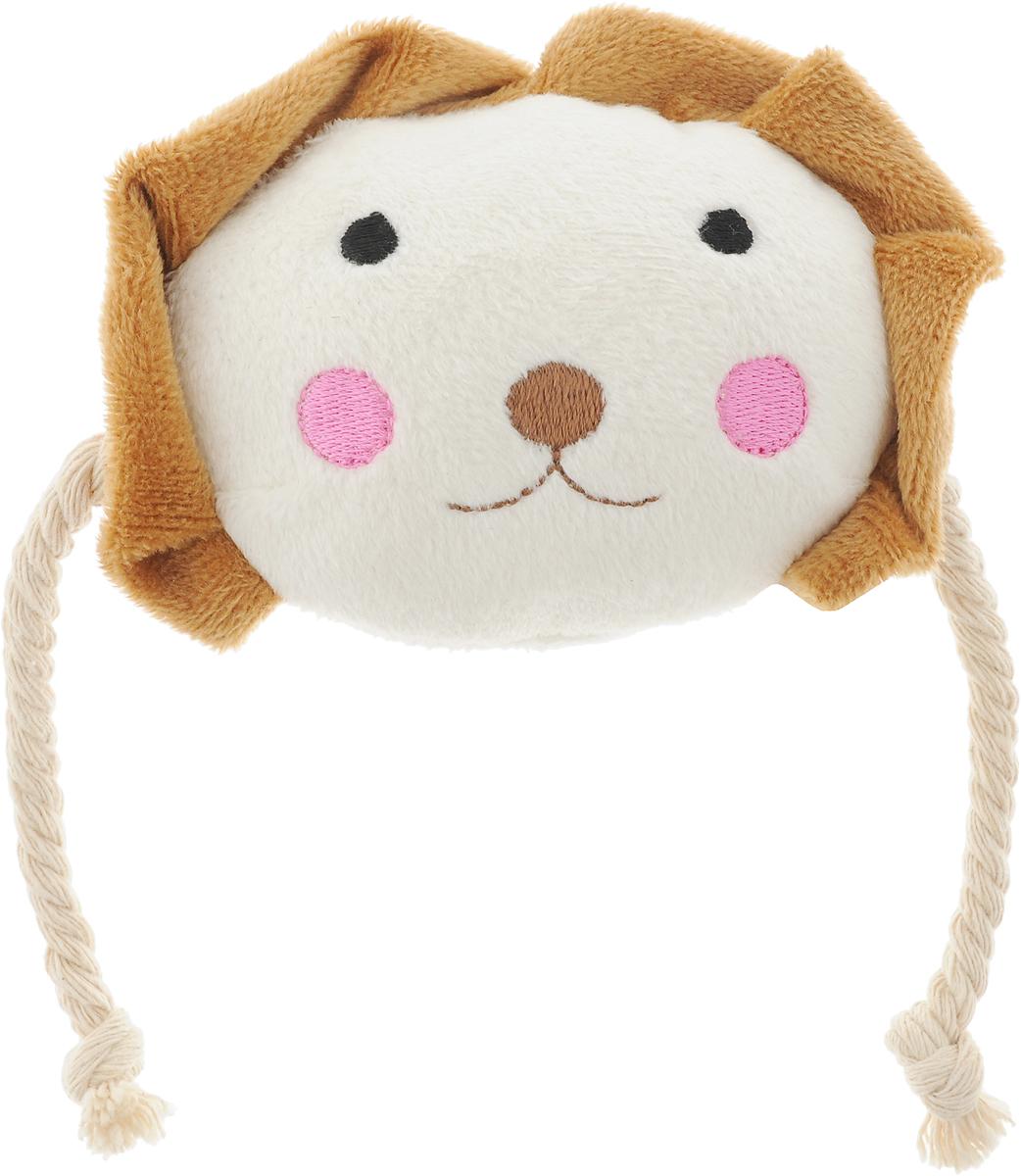 Игрушка для животных GLG Веселая семейка. Собачка, цвет: молочный, коричневый игрушка для животных каскад удочка с микки маусом 47 см