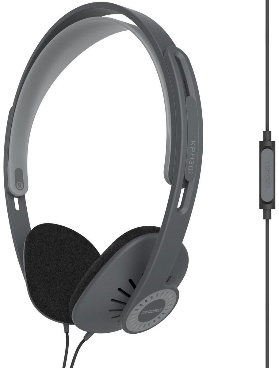Koss KPH30iK, Black наушники15119628Накладные наушники KOSS KPH30i – легкая портативная модель с высоким качеством звучания.Открытая конструкция обеспечивает глубокие басы и чистые высокие частоты. С сопротивлением в 60 Ом модель совместима с большинством плееров в мобильных устройствах. Компания Koss подала патент на конструкцию KPH30i, а прочный кабель с пружинной оплеткой прослужит долгие годы.С такими современными функциями, как например гарнитура, пользователь всегда остается на связи, наслаждаясь любимой музыкой.