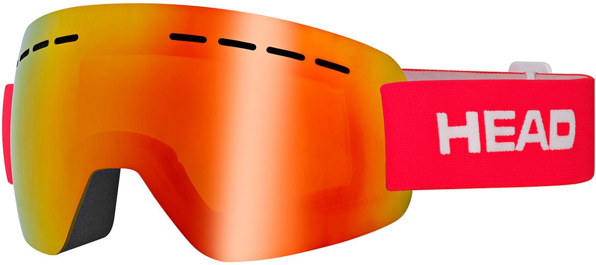 Маска горнолыжная HEAD SOLAR FMR, цвет: красный394437Супер легкая маска сделанная по абсолютно безрамной технологии Real NO Frame. Вес всего 66 грамм! За лучший дизайн и решение в области оптики эта маска получила премию международной спортивной выставки в Мюнхене ISPO 2016.ОСОБЕННОСТИ:- 3 категория, светопропускаемость 13%,- Прессованный преформованный поликарбонатный двойной линзовый блок,- Зеркальная поверхность линзы Flash Mirror,- Внутренняя поверхность обработана слоем анитифога предотвращающим запотевание,- Защита UV 400,- 3-х слойный уплотнитель,- Повышенное поле обзора,- Супер малый вес - 66 грамм,- Подходит для среднего и широкого лица,- VLT: 13% S3