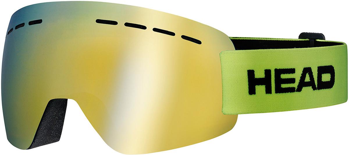 Маска горнолыжная HEAD Solar FMR, цвет: лайм394417Супер легкая маска HEAD Solar FMR изготовлена по абсолютно безрамной технологии Real No Frame, которая повышает поле обзора. Маска имеет прессованный преформованный поликарбонатный двойной линзовый блок. Линзы Flash Mirror имеют зеркальную поверхность. Внутренняя поверхность обработана слоем анитифога предотвращающим запотевание. Защита UV 400. В маске используется 3-х слойный уплотнитель. Светопропускаемость 13%. Что взять с собой на горнолыжную прогулку: рассказывают эксперты. Статья OZON Гид