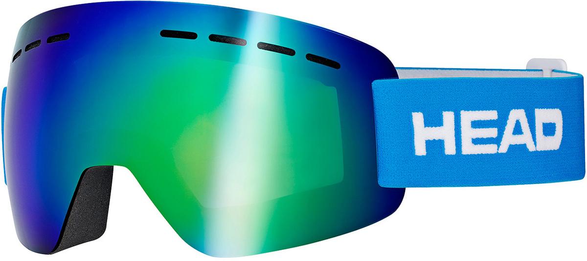 Маска горнолыжная HEAD Solar FMR, цвет: синий394427Супер легкая маска HEAD Solar FMR изготовлена по абсолютно безрамной технологии Real No Frame, которая повышает поле обзора. Маска имеет прессованный преформованный поликарбонатный двойной линзовый блок. Линзы Flash Mirror имеют зеркальную поверхность. Внутренняя поверхность обработана слоем анитифога предотвращающим запотевание. Защита UV 400. В маске используется 3-х слойный уплотнитель. Светопропускаемость 13%. Что взять с собой на горнолыжную прогулку: рассказывают эксперты. Статья OZON Гид