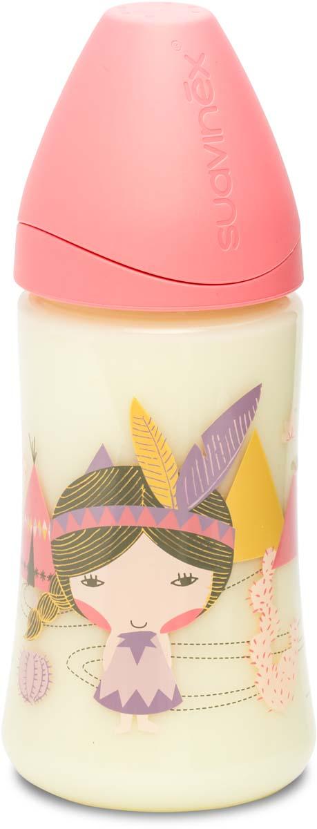 Suavinex Бутылочка от 0 месяцев с силиконовой соской цвет розовый 270 мл 3800055 suavinex бутылочка от 0 месяцев с силиконовой соской цвет розовый 270 мл 3800055