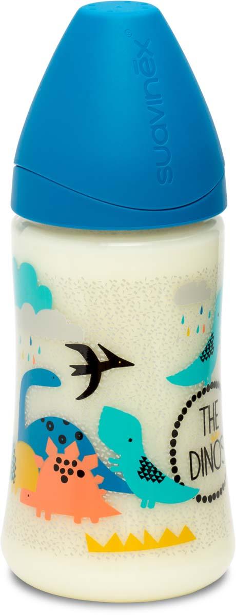 Suavinex Бутылочка от 0 месяцев с силиконовой соской цвет синий 270 мл 3800055 suavinex бутылочка от 0 месяцев с силиконовой соской цвет розовый 270 мл 3800055
