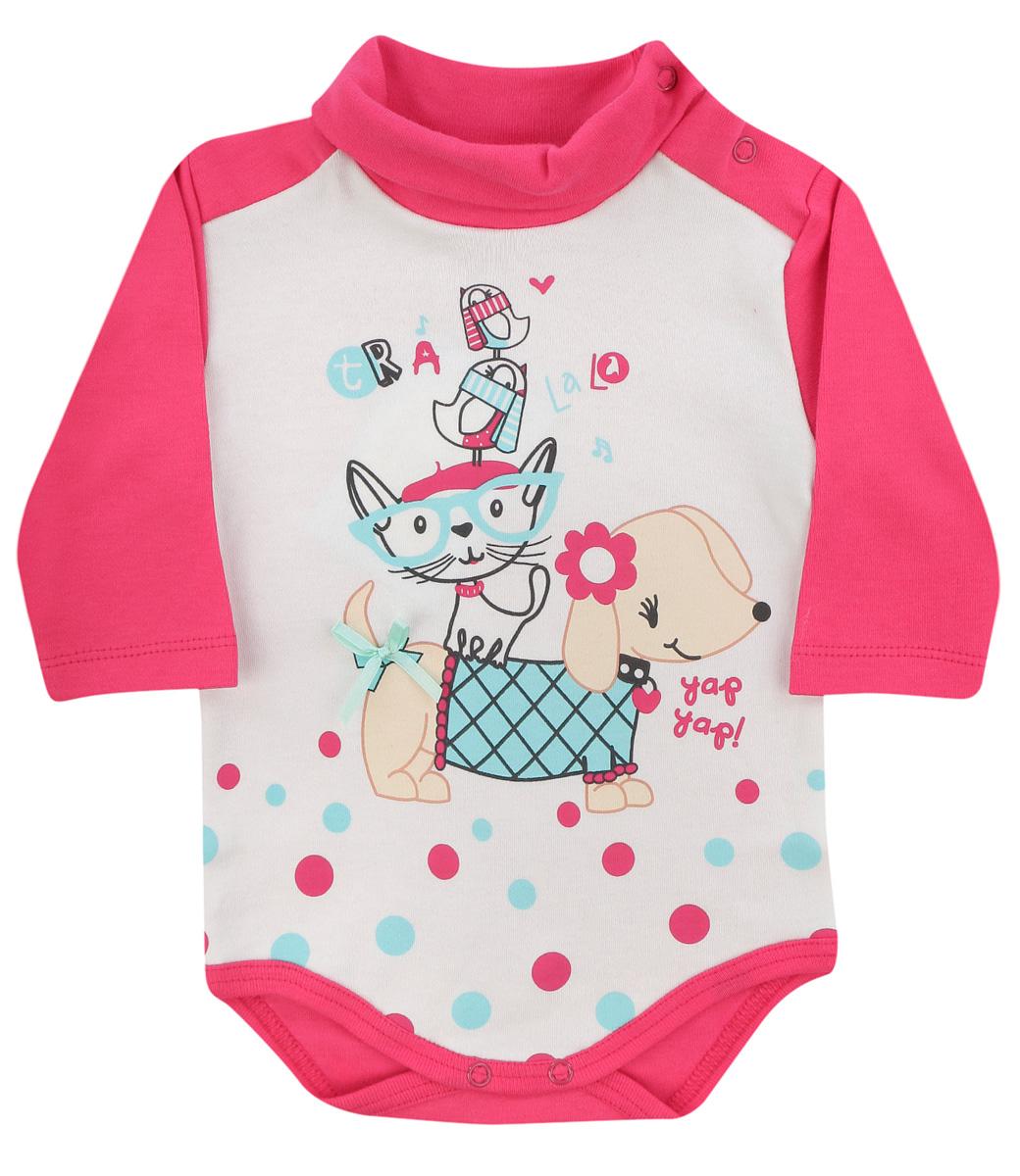 Боди для девочек Soni Kids Прогулка с Мими, цвет: розовый, белый. З7101011. Размер 80 soni kids кофточка