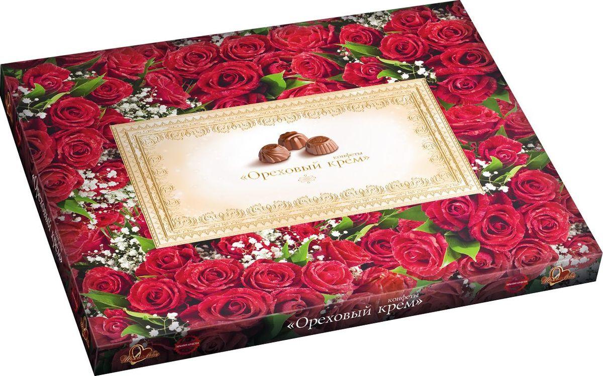 ШокоЛеди Конфеты ассорти с начинкой ореховый крем, 340 г (Розы) nuts bank крем ореховый фисташковый 250 г