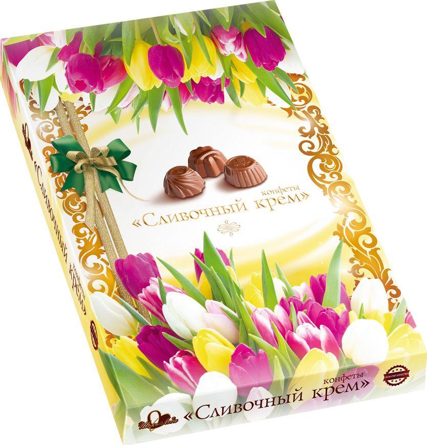 ШокоЛеди Конфеты ассорти с начинкой сливочный крем, 110 г (Тюльпаны)