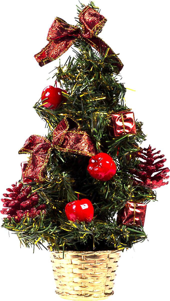Елка настольная c игрушками Vita Pelle, 30 см. K11EL17014K11EL17014Милая наряженная елочка в корзинке украшена игрушками и мишурой. Она будет уместна и дома, и в офисе. Она преобразит пространство, подарив праздник и новогоднее настроение. Небольшой размер елочки позволит разместить ее где угодно.