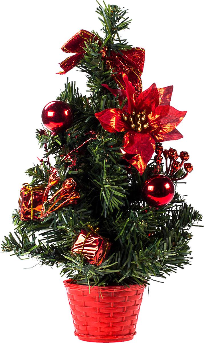 Елка настольная c игрушками Vita Pelle, 30 см. K11EL17017K11EL17017Милая наряженная елочка в корзинке украшена игрушками и мишурой. Она будет уместна и дома, и в офисе. Она преобразит пространство, подарив праздник и новогоднее настроение. Небольшой размер елочки позволит разместить ее где угодно.