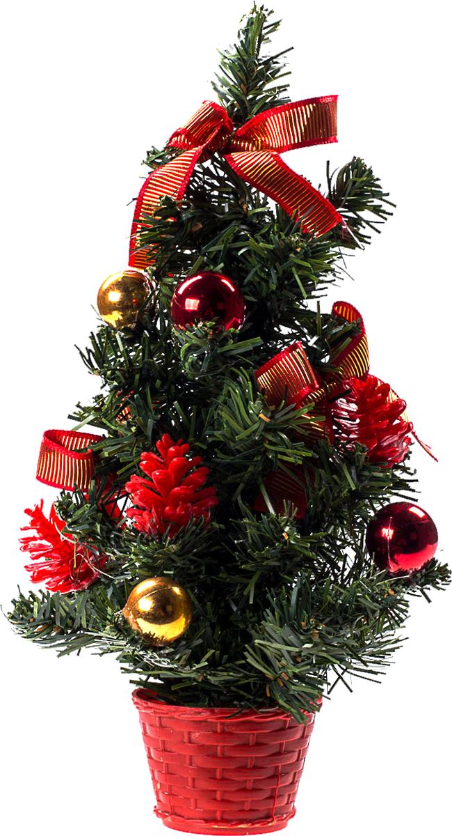 Елка настольная c игрушками Vita Pelle, 30 см. K11EL17021K11EL17021Милая наряженная елочка в корзинке украшена игрушками и мишурой. Она будет уместна и дома, и в офисе. Она преобразит пространство, подарив праздник и новогоднее настроение. Небольшой размер елочки позволит разместить ее где угодно.