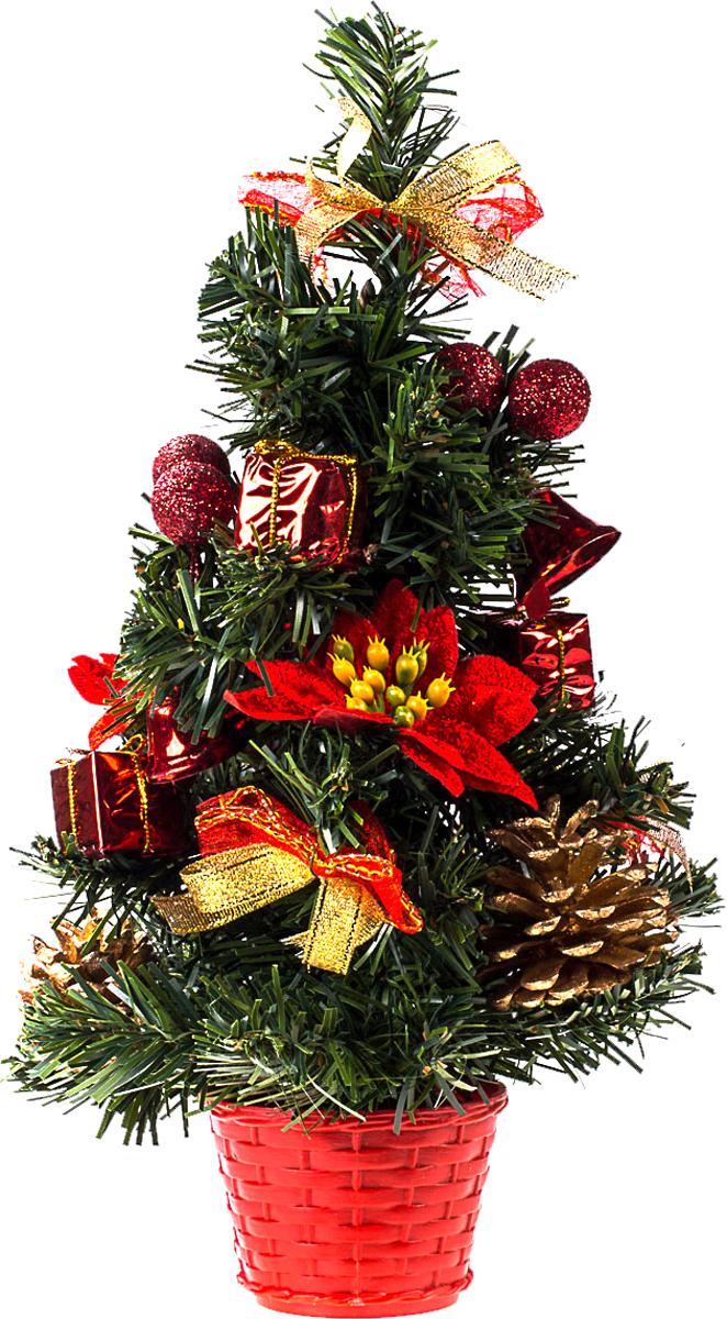 Елка настольная c игрушками Vita Pelle, 30 см. K11EL17026K11EL17026Милая наряженная елочка в корзинке украшена игрушками и мишурой. Она будет уместна и дома, и в офисе. Она преобразит пространство, подарив праздник и новогоднее настроение. Небольшой размер елочки позволит разместить ее где угодно.