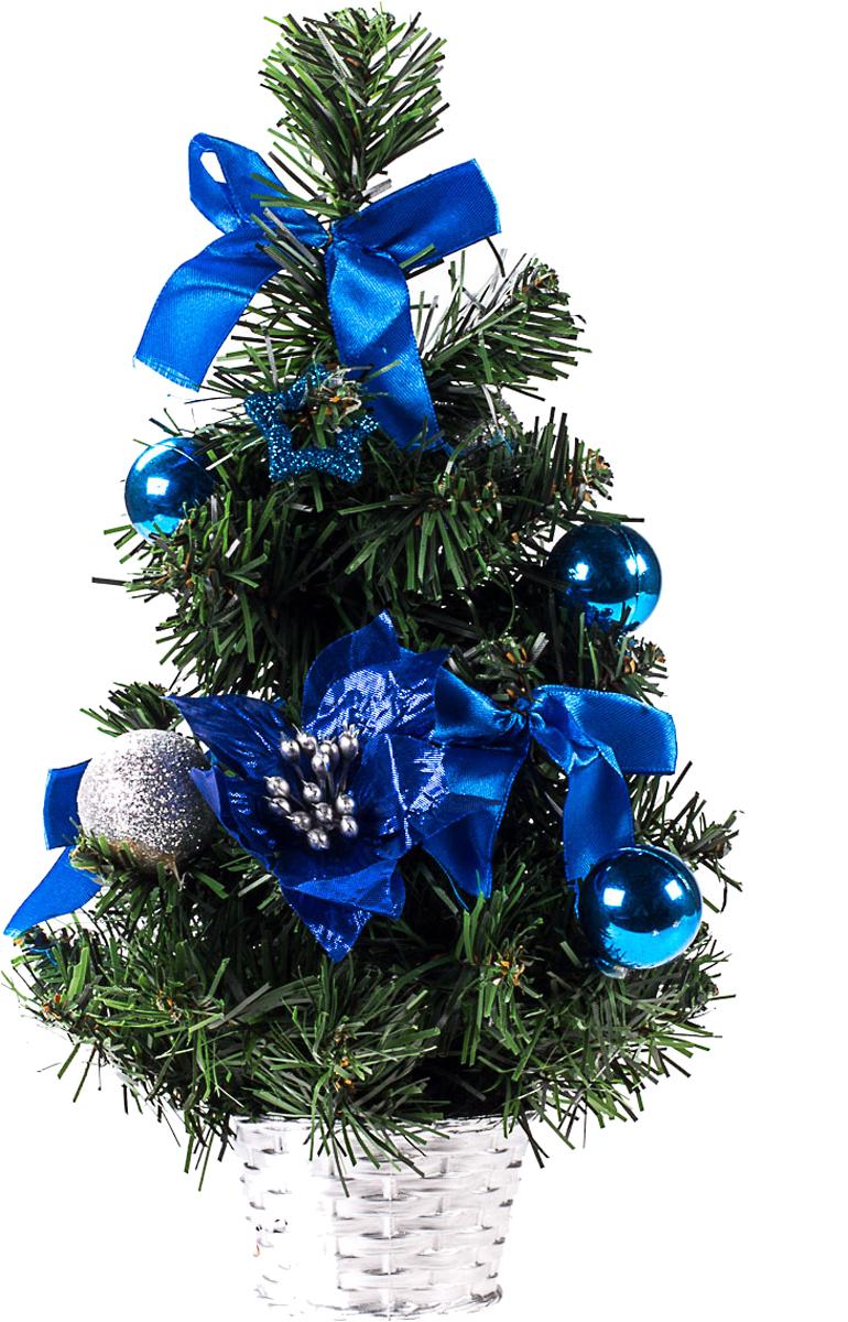 Елка настольная c игрушками Vita Pelle, 30 см. K11EL17045K11EL17045Милая наряженная елочка в корзинке украшена игрушками и мишурой. Она будет уместна и дома, и в офисе. Она преобразит пространство, подарив праздник и новогоднее настроение. Небольшой размер елочки позволит разместить ее где угодно.