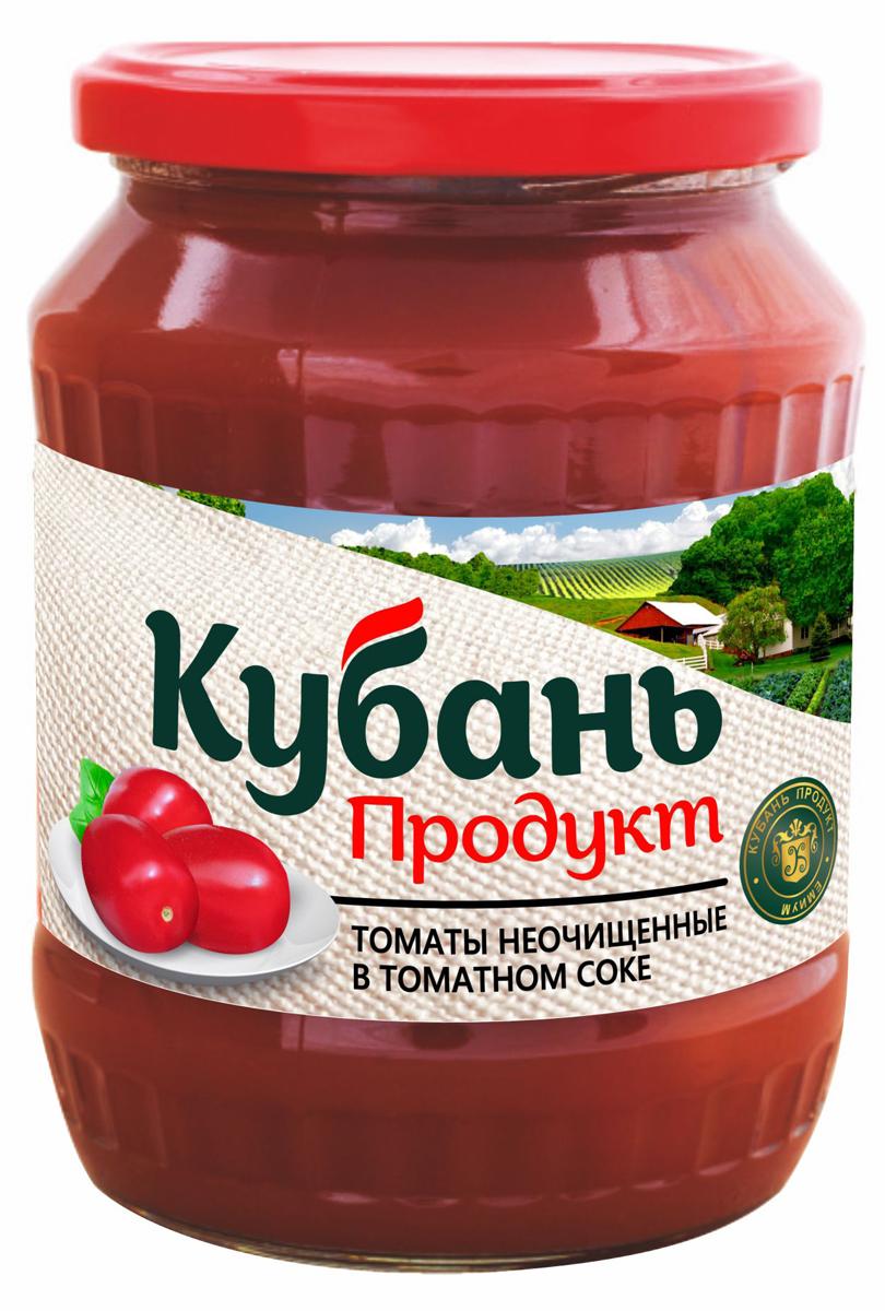 Кубань Продукт помидоры неочищенные в томатном соке, 680 г