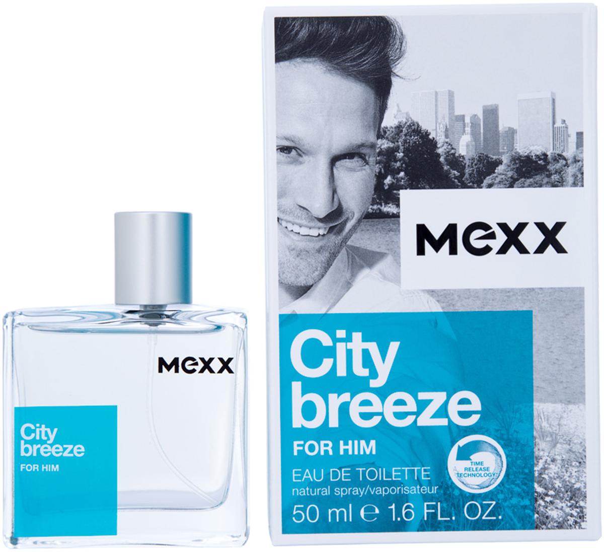 Mexx City Breeze Man Туалетная вода мужская, 50 мл8005610291420Жизнь в большом городе похожа на захватывающее приключение, но иногда городская суета угнетает. Mexx City Breeze, как глоток свежего воздуха, позволяет вырваться из городского стресса. Наслаждаясь захватывающей городской панорамой с высоты птичьего полета, почувствуй City Breeze.Краткий гид по парфюмерии: виды, ноты, ароматы, советы по выбору. Статья OZON Гид