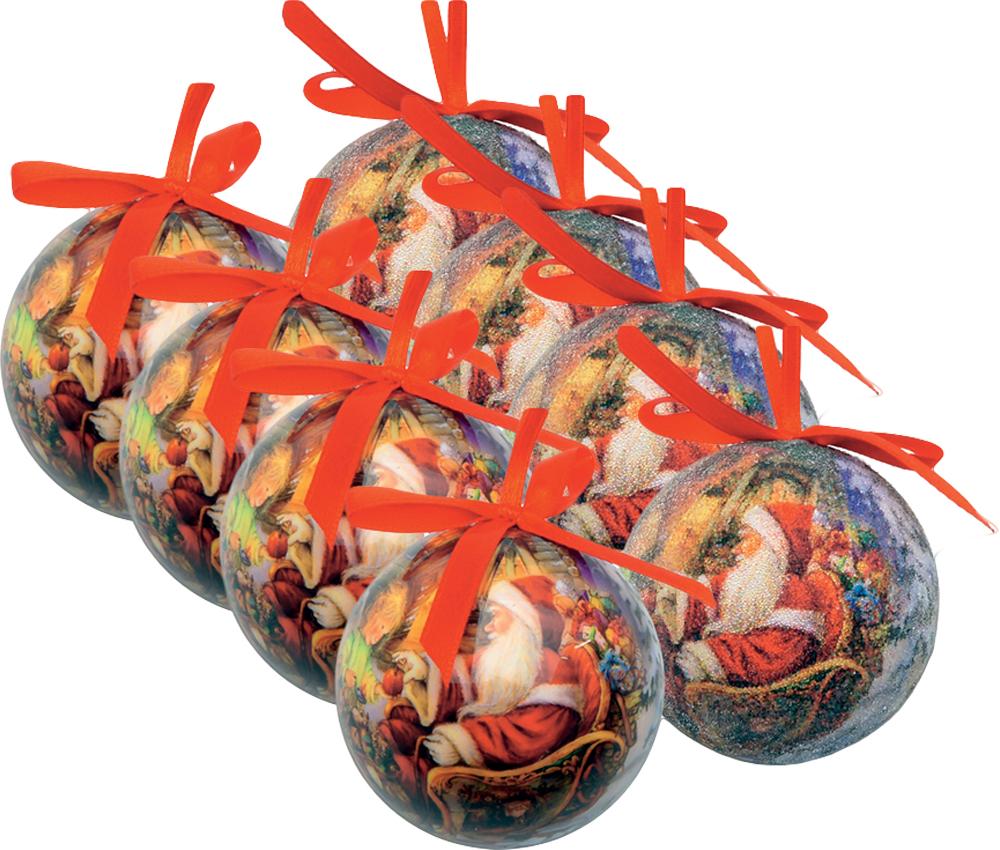 Набор новогодних подвесных украшений Mister Christmas  Папье-маше , диаметр 7,5 см, 8 шт. PM-22-8 -  Украшения