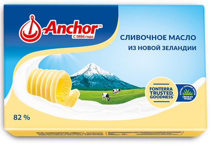 Anchor Масло сливочное 82%, 180 г21212Сливочное масло из Новой Зеландии.