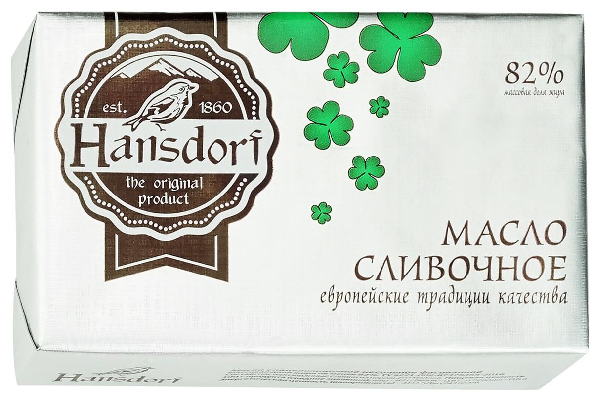 Hansdorf Масло сливочное 82%, 180 г вкуснотеево масло сливочное традиционное 82 5% 400 г