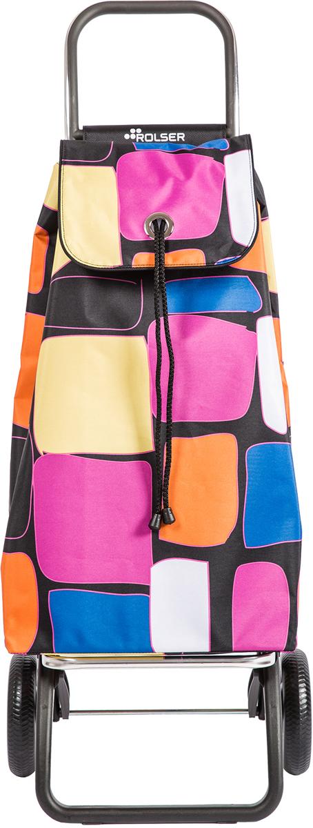 Сумка-тележка Rolser Convert Rg, цвет: черный, белый, 43 л. IMX080 сумка тележка rolser logic rg цвет синий 41 л pep004