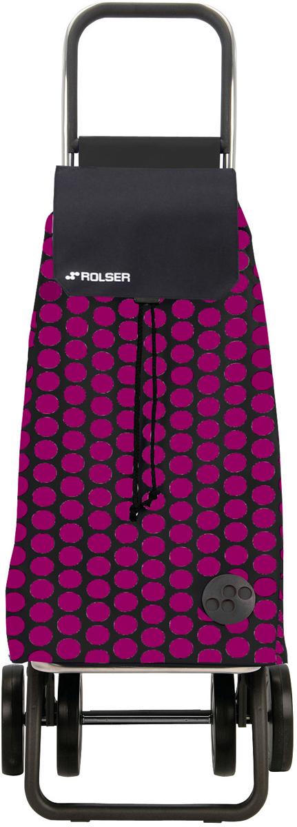 Сумка-тележка Rolser Dos+2, цвет: розовый, черным, 51 л. MOU055MOU055 fucsia/negroТележка занимает минимальное место при хранении. Эта удобная сумка-тележка пригодится каждой хозяйке. Её мобильность и простота позволит без труда ей пользоваться. При правильном использовании сумка прослужит 10-15 лет, для этого необходимо соблюдать грузоподъемность до 25 кг.Передняя подставка складывается. Сумка закрывается при помощи шнура, который можно затянуть. Верх защищен клапаном. Есть внутренний карман для мелочей.диаметр колес 14см