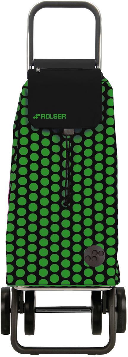 Сумка-тележка Rolser Dos+2, цвет: зелено-черный, 51 л. MOU055 тележка для фляги в твери