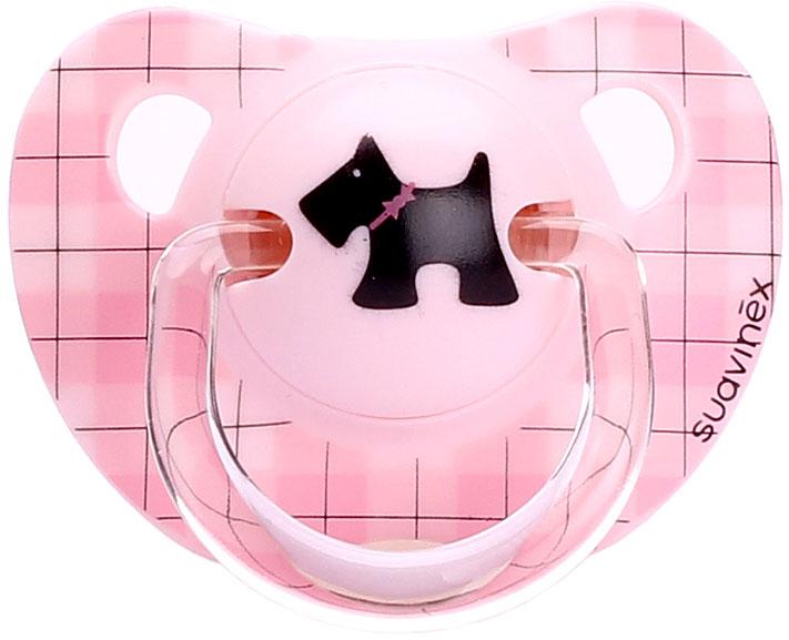 Suavinex Пустышка Scottish от 6 месяцев анатомическая силиконовая цвет розовый пустышка 6 мес анатомическая силикон